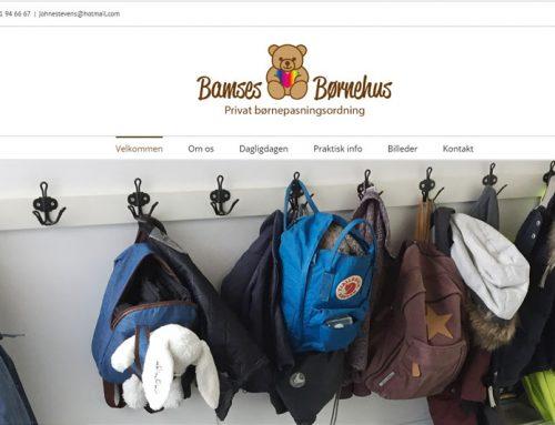 Bamses Børnehus WordPress